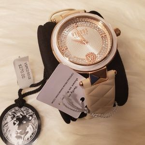 Versus Versace Leather Strap Ladies Watch